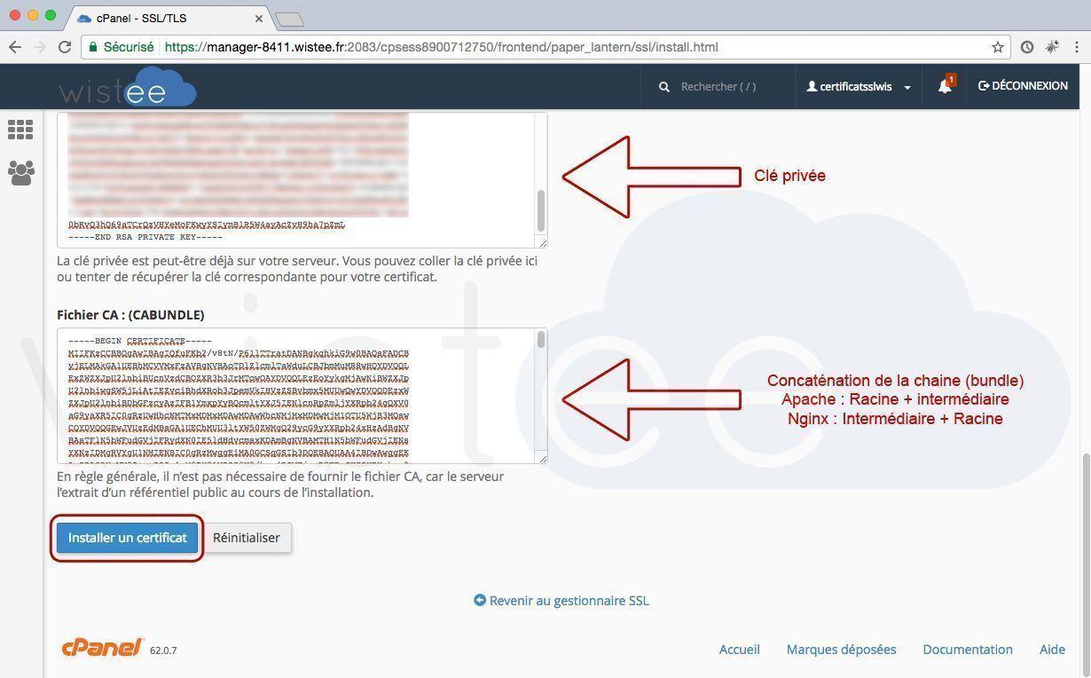 installer le certificat SSL sur Android